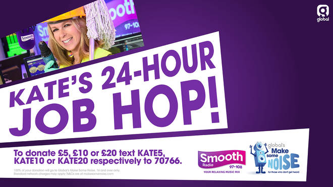 Kate Garraway's 24-Hour Job Hop for Global's Make Some Noise!