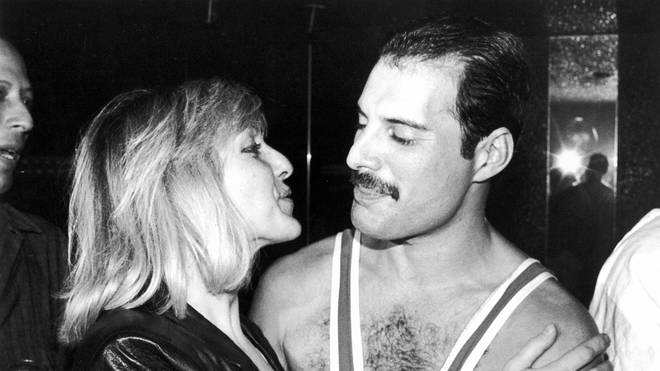 Mary Austin and Freddie Mercury in 1984