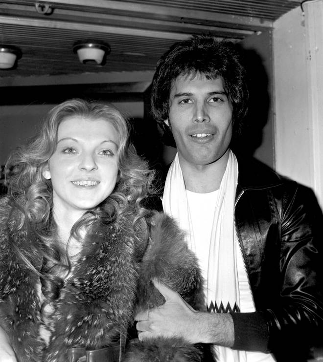 Freddie Mercury and Mary Austin in 1977
