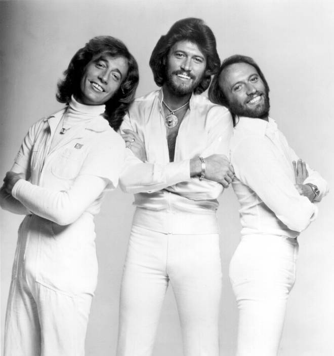 The Bee Gees, (L to R) Robin, Barry and Maurice Gibb pictured in 1970.