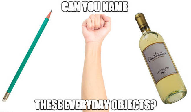 Everyday object quiz