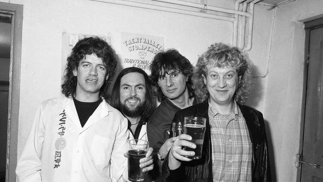 Slade (L-R Jim Lea, Dave Hill, Don Powell and Noddy Holder)