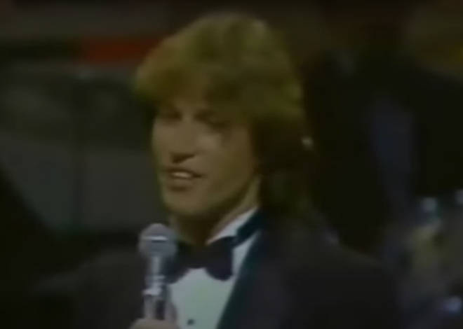 The 23-year-old star then dedicates his next song to Mr Crosby before the music starts and the Gibb brother sings a beautiful rendition of the legend's hit song, 'White Christmas'.
