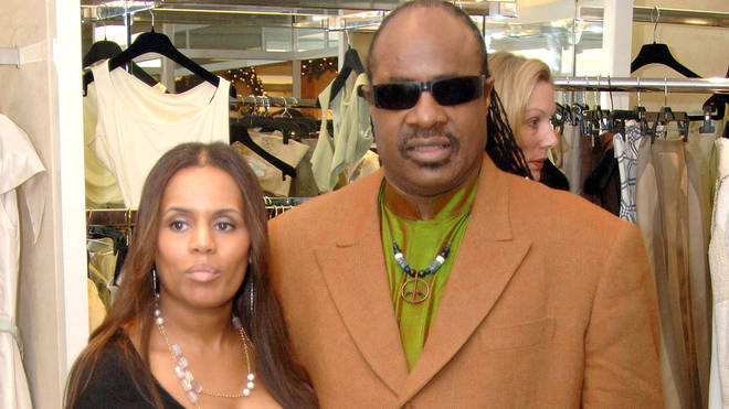 Stevie Wonder and second wife Kai in 2005