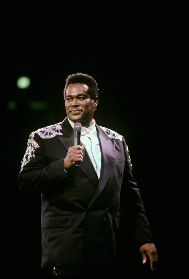 Luther Vandross performed Christmas TV specials in US television in November and December of 1995. Pictured on stage in Madison Square Garden in New York,1988.