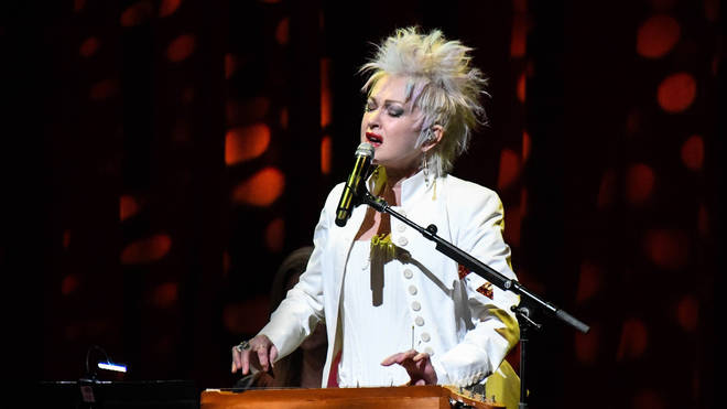 The special track featured on Cyndi Lauper's live TV special Home For The Holidays, a star-studded online event featuring stars including Bette Midler, Boy George, Cher and Dolly Parton. Pictured, Cyndi Lauper in March 2020.