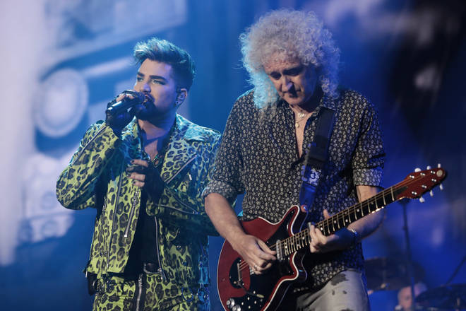 Queen's Brian May and Adam Lambert have both separately recorded Christmas songs in 2020. The pair pictured in February 2020.