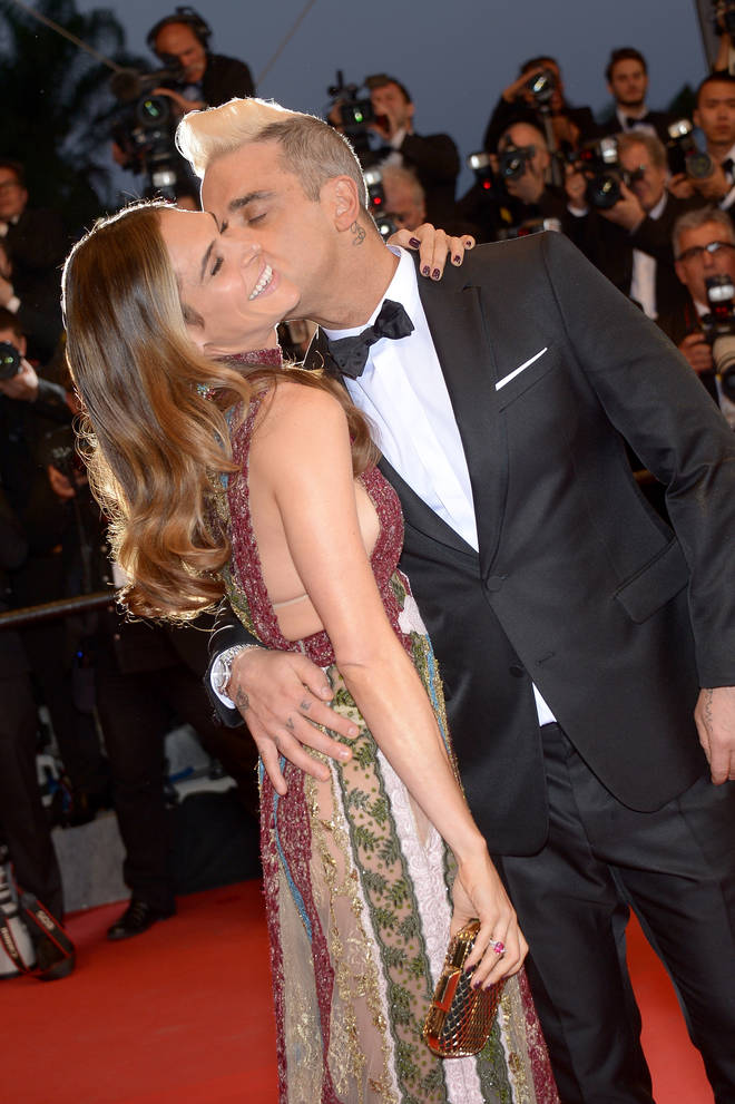 Robbie and wife Ayda in 2015