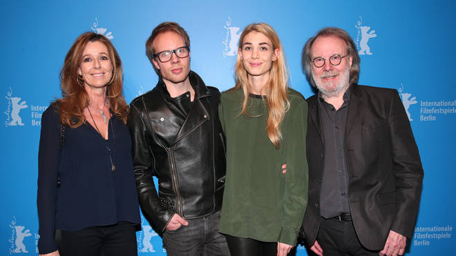 Benny with son Ludvig and Ludvig's partner Mimi (right) and Andrea Schoeller (left)