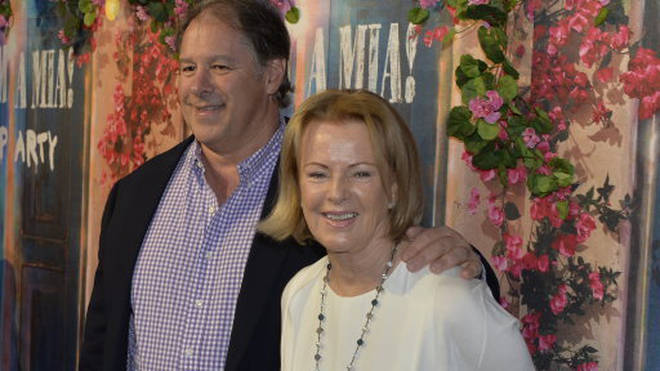 Anni-Frid Lyngstad and partner Henry Smith