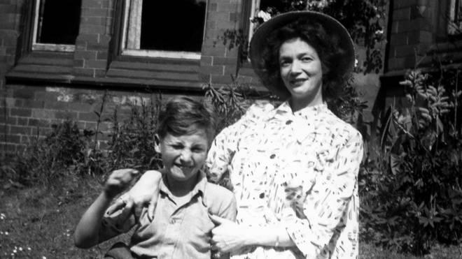 John Lennon and Julia Lennon in 1949