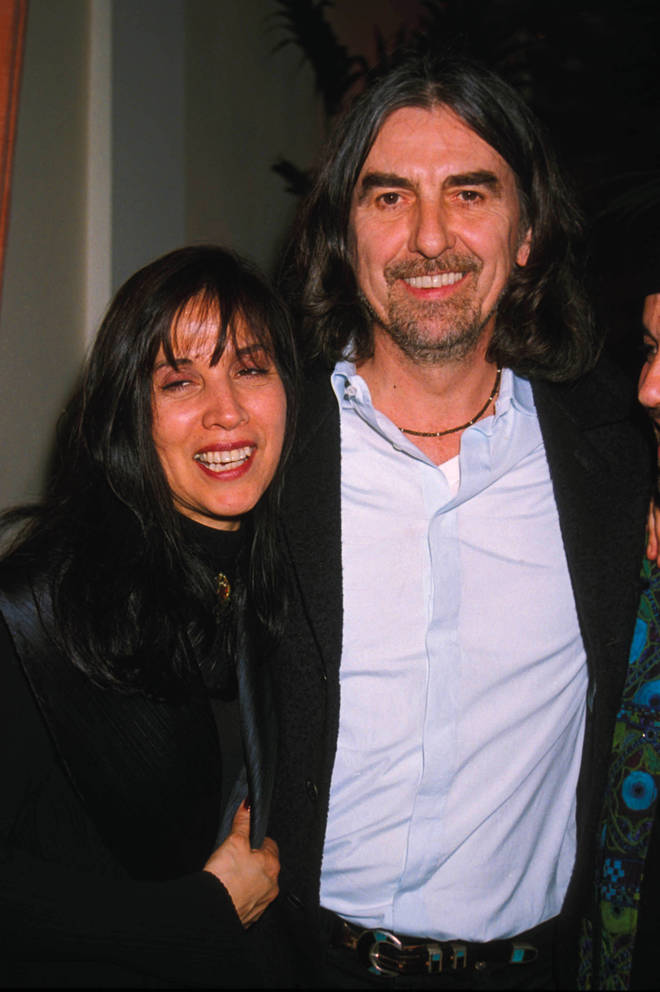 George Harrison With Wife Olivia in 1991