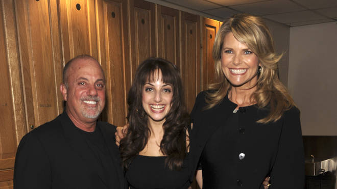 Billy Joel with daughter Alexa Ray Joel and second wife Christie Brinkley in 2008