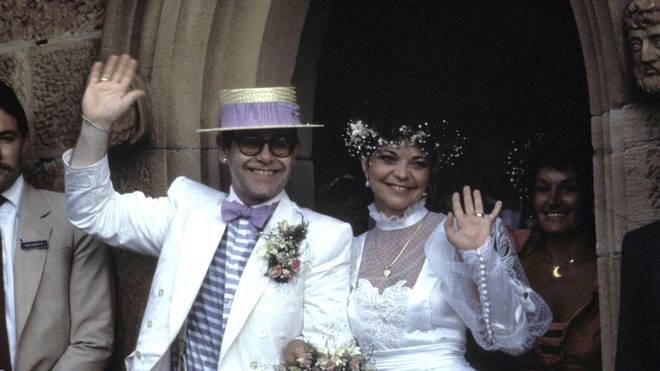 Elton John and Renate Blauel's Wedding