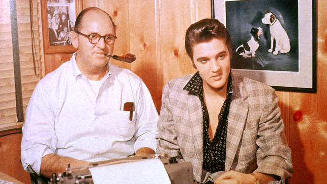 Colonel Tom Parker and Elvis in 1956