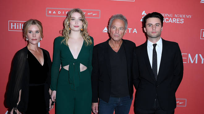 Lindsey Buckingham with wife Kristen, daughter Stella and son William