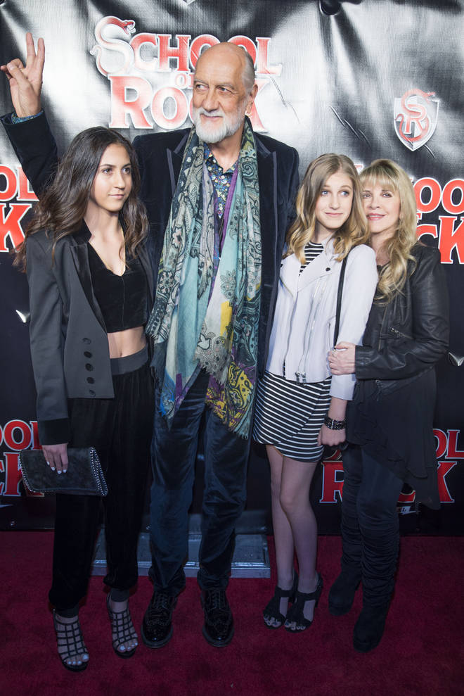 Mick Fleetwood with daughters Tessa (left) and Ruby, and Stevie Nicks