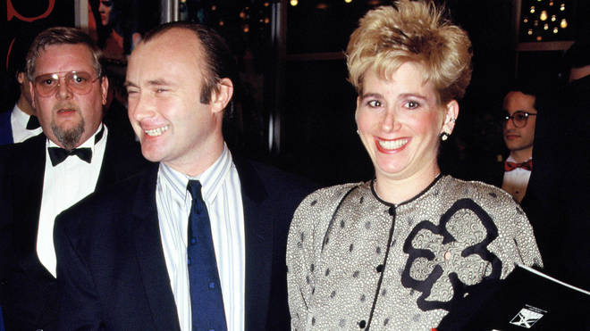 Phil Collins with second wife Jill Tavelman