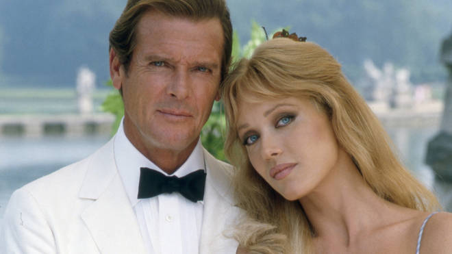 Roger Moore with Tanya Roberts