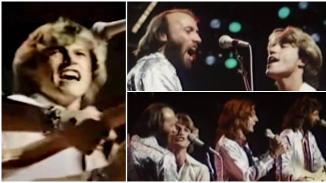 The Bee Gees were in the midst of their Spirits Having Flown tour when they welcomed their younger brother Andy on stage for a rendition of 'You Should Be Dancing'.