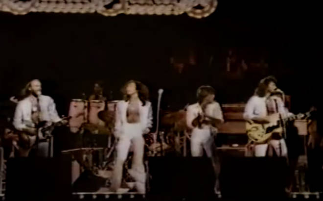 Featured on The Bee Gees Special, a 90-minute one-off NBC broadcast celebrating the '70s superstars, the footage shows the moment when the three Bee Gees became four and sang a stunning live version of the hit song.
