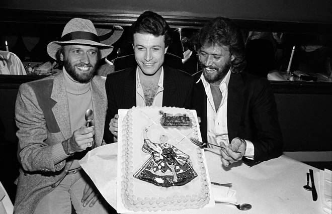 """""""We were like twins,"""" Barry Gibb said of Andy. """"The same voice, the same interests, the same birthmark."""" Pictured (L to R) Maurice, Andy and Barry Gibb"""