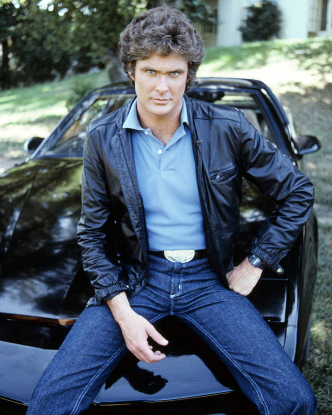David Hasselhoff is selling his famous car KITT from the series Knight Rider. Pictured in 1983.