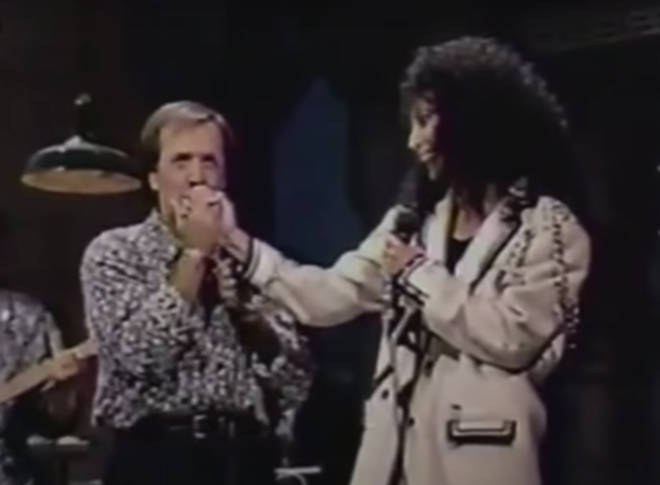 Sonny & Cher stayed on very good terms after their divorce and twice made impromptu appearances together, the first in 1979 and the second and final time with David Letterman in 1989 (pictured).