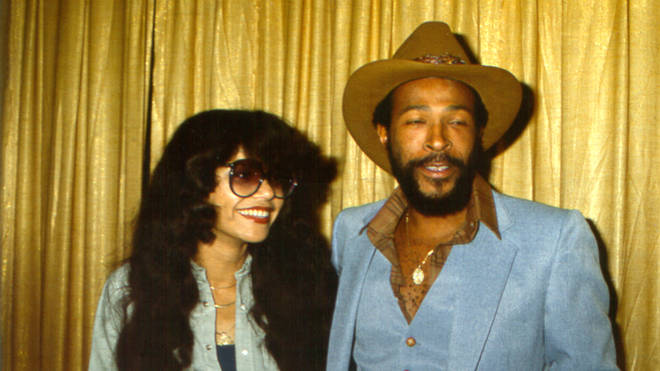 Marvin Gaye and second wife Janis in 1977