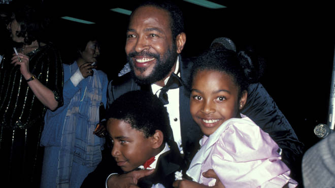 Marvin Gaye and children Frankie and Nona