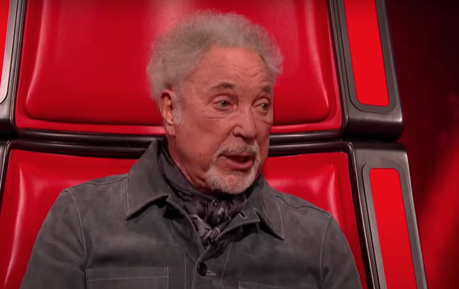 The four judges were taking a break between blind auditions when, prompted by the enthusiastic virtual audience, Tom Jones agreed to sing a song.