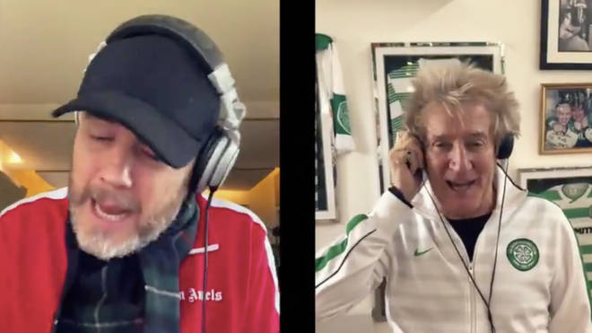 Gary Barlow and Rod Stewart