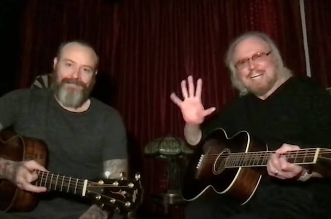 The musical pair gave a stripped back acoustic performance of three of the band's most famous songs: 'Stayin' Alive', 'Words' and 'How Do You Mend A Broken Heart'.