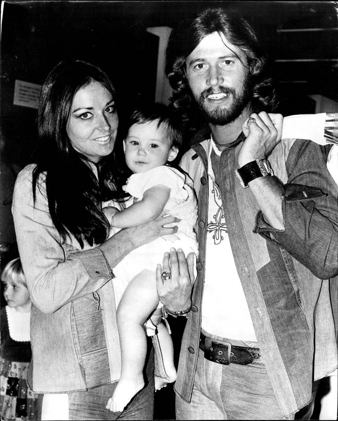 Stephen, the first-born son of Linda and Barry Gibb (pictured in 1974), is a musician in his own right.