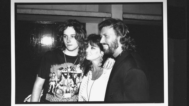 """Speaking on his recovery podcast, Addiction Talks, Stephen Gibb said: """"The first time I drank I was probably 14 and I downed an entire bottle of Jack Daniels [and] blacked out."""" Pictured with his parents when he was a teenager."""
