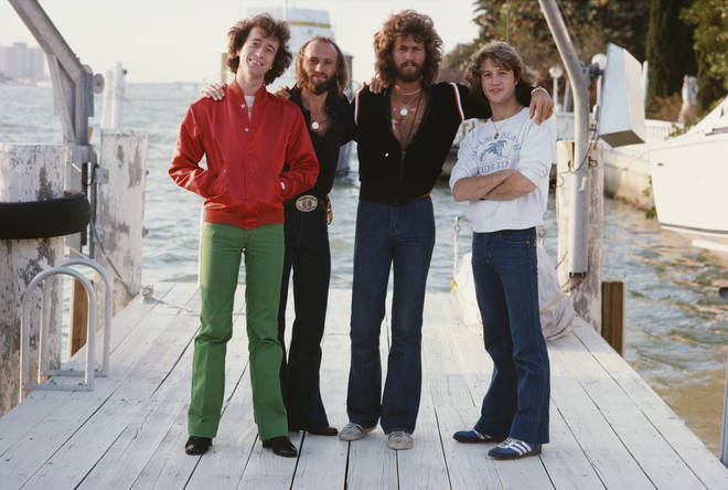 """Barry Gibb recently spoke out about not wanting to see the new Bee Gees documentary: """"I think it's perfectly normal to not want to see how each brother was lost, you know?"""". Pictured (L to R) Robin, Maurice, Barry and Andy Gibb."""
