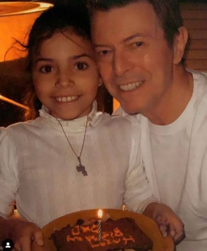 Lexi Jones shared the tribute to her Instagram page on Monday, on what would have been David Bowie's 74th birthday