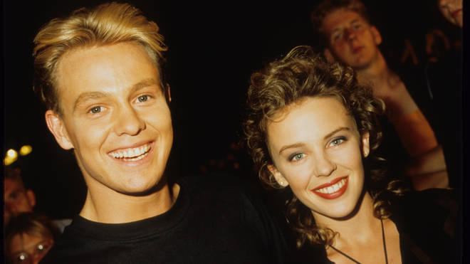 Kylie Minogue And Jason Donovan in 1989