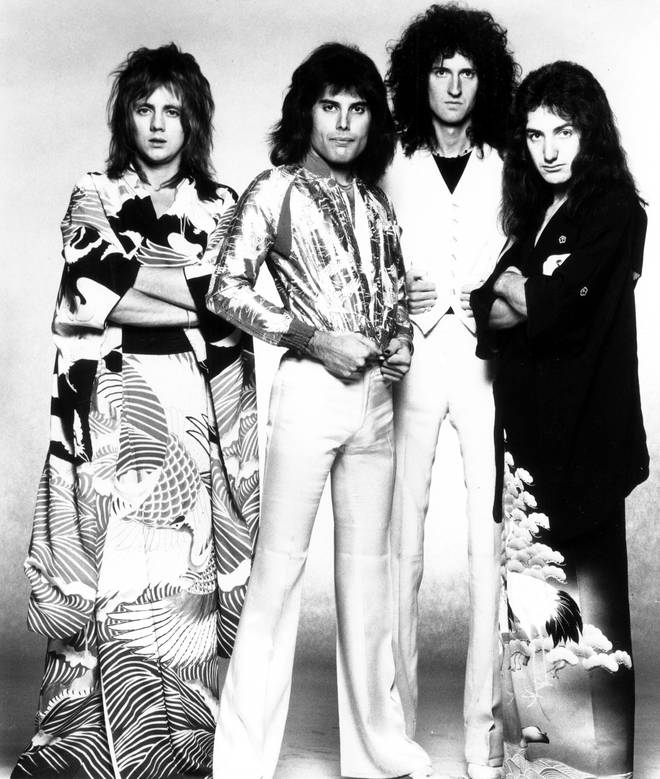 After Freddie Mercury's death from AIDS in 1991, numerous stars spoke publicly about Freddie Mercury's greatness and the influence he has had on their lives. Pictured: Queen in 1975.