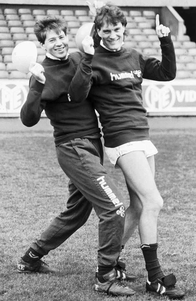 Chris Waddle and Glenn Hoddle as they were in 1987