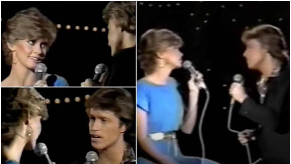 When Andy Gibb and Olivia Newton-John sang a sizzling duet of Bee Gees' hit 'Rest Your Love On Me'