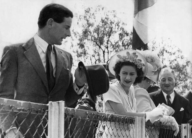 Peter Townsend and Princess Margaret in 1955