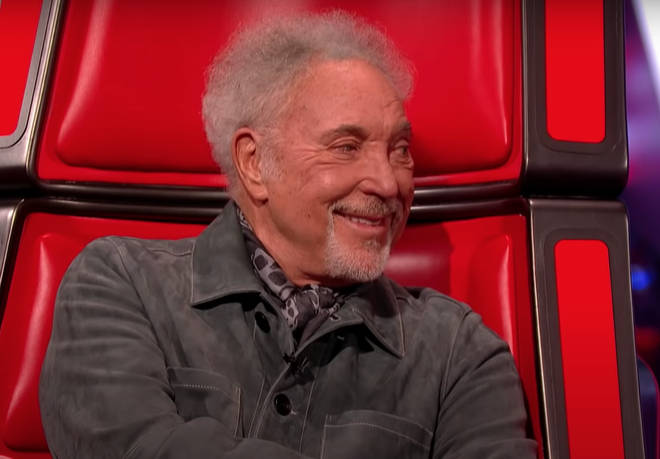Sir Tom Jones was chatting to his fellow judges on The Voice when they asked him to sing his 1960 hit song 'With These Hands'
