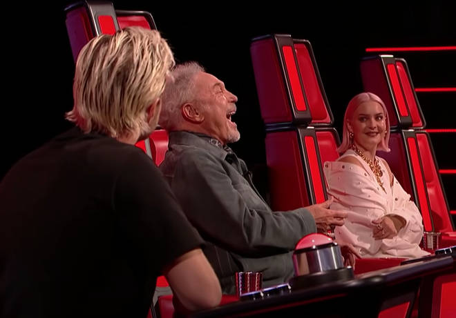 As the house band started to play the opening bars, fellow judge Anne-Marie – who was overwhelmed by Tom Jones' performance of Dirty Dancing's 'Cry To Me' the week before – gave a sharp intake of breath