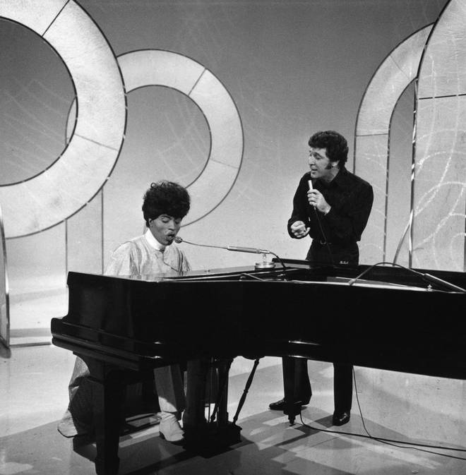 Tom Jones went on to host his own US TV show This Is Tom Jones, a musical variety show that ran from 1969-1972 for a total of 67 episodes on ABC-TV. Pictured, performing on the show with Little Richard.