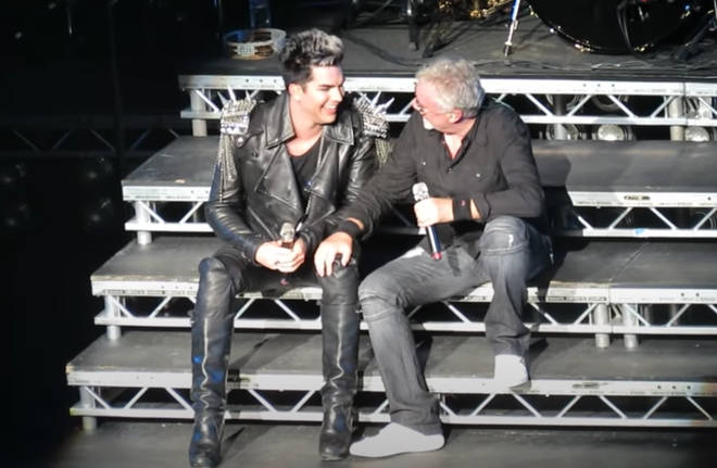 As the pair sat on the stage steps, Adam Lambert then announced to the crowd that Roger Taylor's then 21-year-old son Rufus – now the drummer for The Darkness – would be joining them