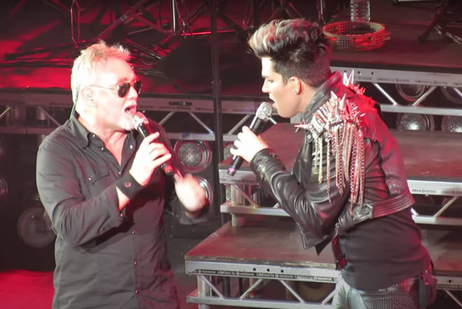 Roger Taylor joined Adam Lambert on stage at the Hammersmith Apollo on July 14, 2012