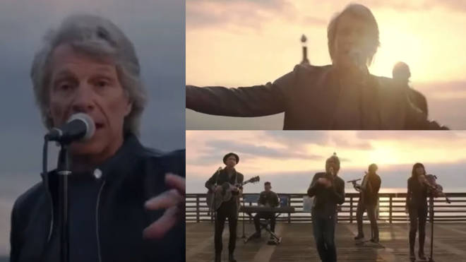 The singing star was taking part in the TV special Celebrating America yesterday (January 20) when he sang 'Here Comes The Sun' on a Miami dock at sunrise.
