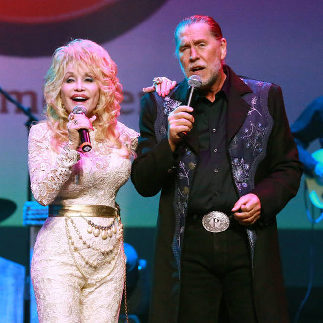 Randy Parton played guitar and bass in sister Dolly's band for many years and the two (pictured) were very close, even dueting on the song 'You Are My Christmas' for Dolly's Christmas album.
