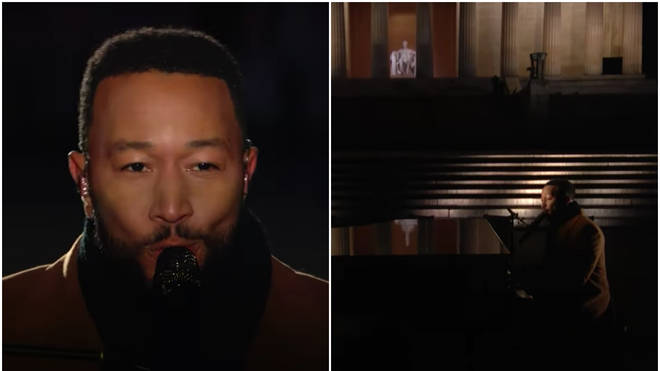 John Legend gave a mesmerising performance of Nina Simone's famous song 'Feeling Good' on NBC's Celebrating America TV special.